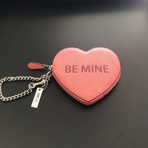 Coach Heart Coin Case w Be Mine and Xoxo Motif